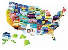 rv camper motor home usa state road map sticker car decal - 21'' by 15'' - a