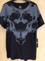 Rock & Republic Mens black Graphic T-Shirt Sz M Skull Rock Punk Goth Graphic Tee