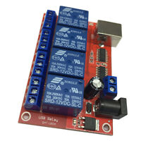 12V 4 Channel Relay Module Programmable Computer Control USB Control Driver