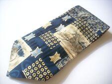TKR366 MONTI Krawatte blau Kutscher 100% Seide wie Neu!
