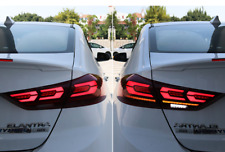 For Hyundai Elantra Dark / Red LED Rear Lamps Assembly LED Tail Lights 2016-2018