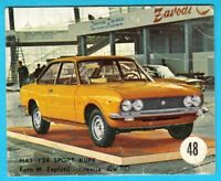 FIAT 124 SPORT COUPE .... Yugoslav vintage card * Used in a album * RRR