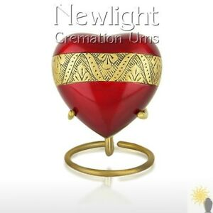 Ruber (3inch Heart), Keepsake Urns, Heart Keepsakes, Mini Urns