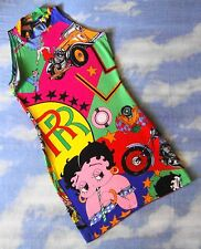 DRESS  woman  90's VERSACE JEANS COUTURE Mod Betty Boop TG 32/46 circa S/M  Rare