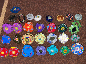 Hasbro Beyblade Old Generation Lot Of 20+ Parts & Launcher Grips Dragoon Dranzer