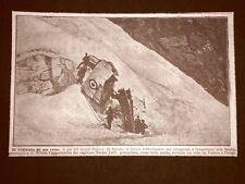 In Savoia nel 1919 Monte Pourry L'aereo precipitato del Capitano Natale Palli