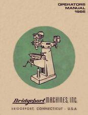 Bridgeport Operators Manual J Head Dovetail Ram 1966