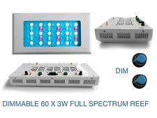 180W AQUARIUM Light marine 3W x 60 PANEL DIMMER SALT WATER Pro lamp CORAL FARM
