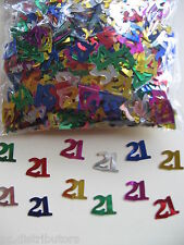 21st Birthday Party Multi Coloured Foil Confetti Table Scatters
