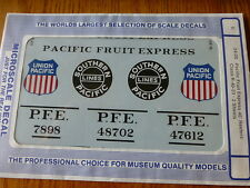 Microscale G #24-20 Pacific Fruit Express 40' Reefers Class R-40-23 (2 Sheets)