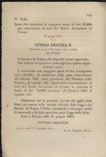 PARMA REGIO DECRETO 1869 TEATRO FARNESIANO riparazione