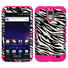 Silver Zebra Pink Hybrid Cover Case for Samsung Galaxy S2 S II i727 SkyRocket