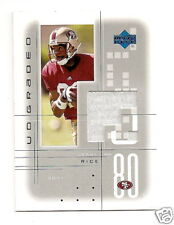 2001 UD Graded Jerry Rice GU Jersey SF 49ers