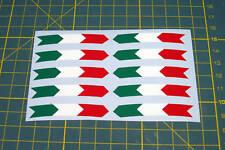 Set De 10 Bandera Italiana Rueda Llanta pegatinas V002