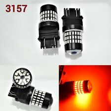 T25 3057 3157 4157 Front Turn Signal Light Red 78 SMD LED Bulb K1 For Ford