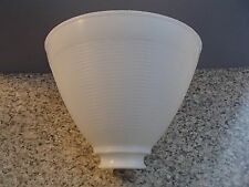 "White Opal Plastic 8"" Floor Table Oil Lamp IES Reflector Waffle Shade Globe"