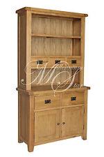 Shrewsbury Solid Chunky Wood Rustic Oak Small Dresser Display Cabinet Cupboard