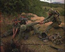 "An U.S. infantryman is lowered into a tunnel 8""x 10"" Vietnam War Photo 185"