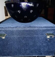 Imperial Collection Of Faberge Cobalt Blue Salute Bowl