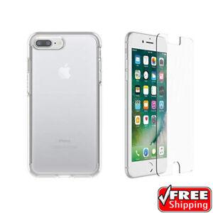 NEW OtterBox Symmetry Case iPhone 7 Plus - 8 Plus - Clear - INCLUDES Alpha Glass