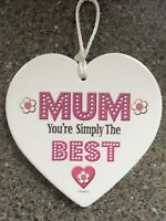 Heart Wall Hanging, Plaques Sign Christmas Gift For Mum