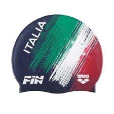 Cuffia ARENA ITALIA TEAM FIN in SILICONE Colore BLU Nuoto Piscina Swim cap
