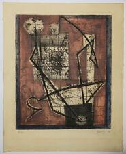 Henri GOETZ [Composition]. Gravure en couleurs SIGNEE