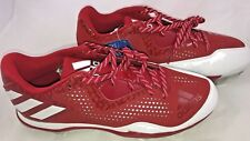 Adidas Mens Shoes Poweralley 4 Baseball Cleats Power Red/White/Silver 10 M NEW