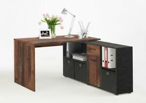LEX Winkelschreibtisch von FMD Old Style dunkel / Matera i