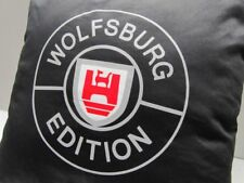 """+ VOLKSWAGEN VW Kissen """" WOLFSBURG EDITION """"  schwarz Golf,Polo,Passat,Tiguan UP"""