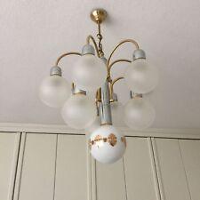 Lampe, Art Deco Stil, Kugelglas, Gold, Leuchter