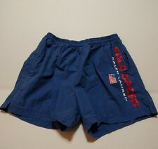 Vintage 90's Polo Sport Spell Out American Flag Shorts Swim Trunks Sz M