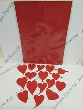 Red Love Heart Die Cut Card Toppers 4 x 16pcs (64 Hearts) Cardmaking Craft AM727