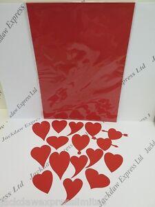 Rouge Amour Coeur Die Coupe Carte Décoration 4 X 16pcs (64 Cœurs ) Fabrication