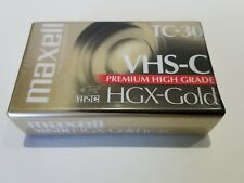 Maxell VHS-C TC-30 Camcorder Cassette Tapes, HGX-Gold, Premium High Grade