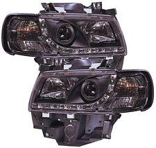 VW Transporter T4 96-03 - Negro Drl Faros de Iluminación Lámpara De Proyector