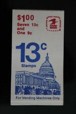 $1 dollar stamp booklet USA Vending Machines only 7 x 13c + 1 x 9c