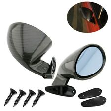 Pair Real Carbon Fiber Universal Auto Accessories Car Side Wing Rearview Mirrors