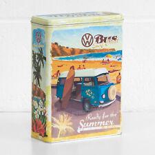Retro Large 4L VW Biscuit Storage Tin Box Kitchen Container Seaside Beetle Bulli