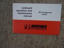 1977 Mercury Mariner 80 Hp Outboard Motor Owner Operator Maintenance Manual s