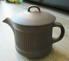 Dansk Denmark IHQ Fluted Flamestone Brown Teapot Old Ducks Mark Mod MCM