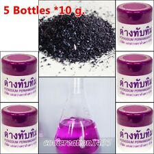 5 *10 g.POTASSIUM PERMANGANATE KMnO4 WASH DISINFECTANT KOI FISH AQUARIUM REAGENT