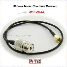 SMA male to SO-239 ADAPTER COAXIAL CABLE SO239 TO SAM MALE + RG-174U 15""