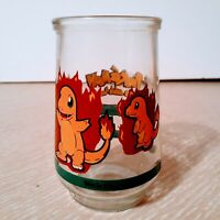 1999 POKEMON CHARMANDER #04 Welch's Jelly Jar Glass - Nintendo (MINT CONDITION)