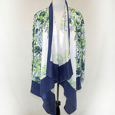 NEW NWT Citron Clothing Plus Size Blooming Garden Floral Open Cardigan Blouse 2X
