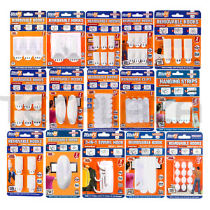 Self Adhesive Removable Hooks Heavy Duty Clip Wall Window Stick on Clips AU Post