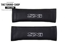 "2x SEAT BELT COVERS SHOULDER PADS LEATHER ""SXI"" EMBROIDERY FOR VAUXHALL OPEL"