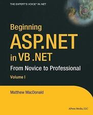 Beginning ASP.NET in VB .NET: From Novice to Professional-ExLibrary