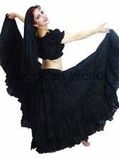 """Negro Tribal Gypsy 25 yardas yarda danza del vientre falda de algodón L36"""" de largo-American"""