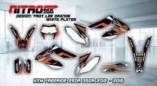 KTM Graphics Kit Decals Design Stickers FREERIDE 250R 350R 2012-2016 MOTOCROSS